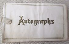 Vintage Autograph Scrapbook by a Girl in Mercer, Pa - Mary E Gamer - 1880'S