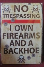 no trespassing tin metal sign MAN CAVE brand new 20 by 30 cm
