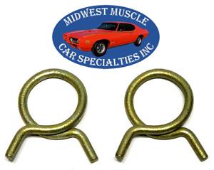 "Ford Mercury 13/16"" O.D. Corbin Style Spring Heater Radiator Hose Clamps 2pcs KU"