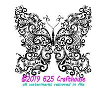 Butterfly Mandala SVG File Zentangle