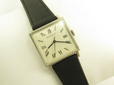 Vintage JAEGER LeCOULTRE 18K SOLID WHITE GOLD MANUAL WIND WRISTWATCH Cal K819/1C