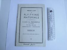 Fishing old Messeena List 56 Fly Tying Materials flies Hawksley vice Tweedsdale
