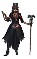 Womens Voodoo Magic Day of the Dead Halloween Fancy Dress Costume
