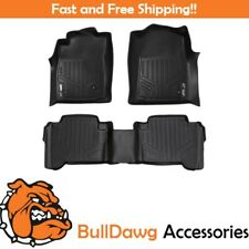 All Weather MAXFloor Mats 2 Row Set BLK Fit 16-17 Toyota Tacoma Double Cab
