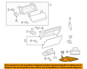 TOYOTA OEM 10-15 Prius Glove Compartment Box-Under Cover 5560747040