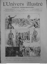 1891 UI9- BICYCLETTE COURSE PARIS BREST PARIS VAINQUEUR TERRONT PORTE MAILLOT