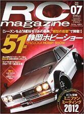 RC magazine 2012 July 7 Japan Book Japanese SHIZUOKA HOBBY SHOW