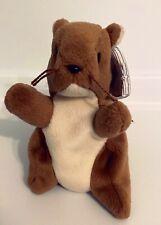 Rare Retired Ty Original Beanie Baby Nut 1996 Style # 4114, Errors,Extra Whisker