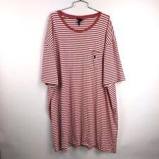 VTG Polo Ralph Lauren T Shirt 4XL Striped Red Mens Single Stitch Vintage 90s