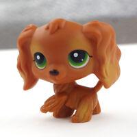 Littlest Pet Shop Toys Cocker Spaniel Brown Dog Long Hair Birthday Gift LPS #252