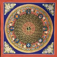 Genuine HandPainted Tibetan Mantra Mandala thangka Painting Meditation Buddha 5