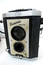 VINTAGE KODAK BROWNIE REFLEX CAMERA IN LEATHER CASE  ESTATE ITEM   AS FOUND