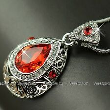 Women Gift for Her Volcano Fire Crystal Necklace Girlfriend Wife Niece Mum J241A