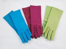 3-Pack Ladies' Colorful Garden Gloves ~ Stretch Fabric, One Size Fits Most! NEW