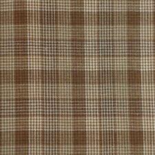 Plaid HOMESPUN 100% Cotton Fabric Brown Cream 700 BY THE YARD
