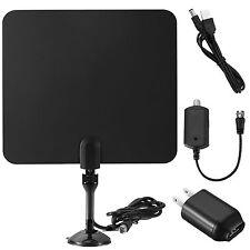 TV 50 Miles Range Flat HD Digital Indoor Amplified TV Antenna with Amplifier