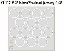 Eduard 1/35 M36 Jackson RUOTA maschere # XT112