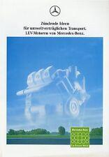 Mercedes  LEV Motoren Prospekt 1992 4/92 Broschüre Lastwagen brochure engines