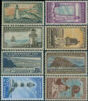 New Zealand Life Insurance 1947 SGL42-L49 Lighthouses set of 8 MLH