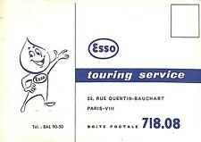 CARTE POSTALE ESSO TOURING SERVICE PUBLICITE