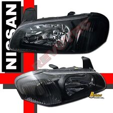 Black Housing Headlights For 2000-2001 Nissan Maxima GXE SE GLE 1 PAIR
