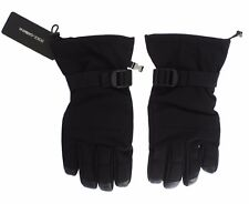 NEW $440 DOLCE & GABBANA Gloves Black Winter Warm Wrist Mens Mittens Strap s. M