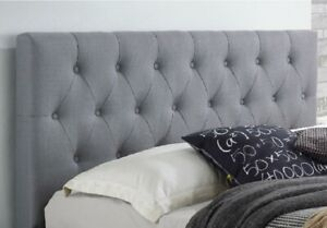 STYLISH POLO HEADBOARD IN FAUX LEATHER TOP QUALITY WITH MATCHING BUTTONS 32""