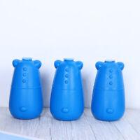 3Pcs Toilet Cleaner Cartoon Bear Long-lasting Blue Bubble Embeded Toilet Cleaner