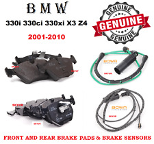 BMW Front & Rear Brake Pad Set W/ Sensor For 330i 330Ci 330xi X3 Z4 E46 Genuine