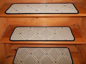 13 Step  9'' x 29''  + 1 Landing 26'' x 29''  Sisal Natural 50% Wool 50% carpet.