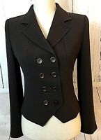 MAX MARA Women's Size 6 Double Breasted Brown Blazer Suit Jacket Made in Italy