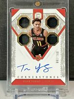 Trae Young 2018-19 Panini Cornerstones Rookie Quad Patch Auto