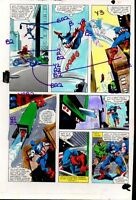 1981 Captain America Marvel Comics original color guide art page 30: Gene Colan