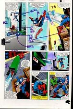 1981 Gene Colan Captain America Marvel Comics original color guide art page 30