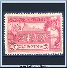 1907 San Marino Espresso Allegoria c. 25 rosa n. 1 Nuovo  Integro **