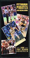 1989 Pittsburgh Pirates MLB Baseball Media GUIDE