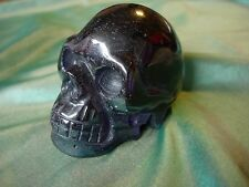 Crystal Skull cubic zirconian 'man made diamond' large purple