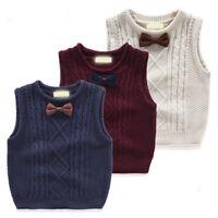 kids Cardigans Boys Girls School Vest Tank top child Knit Cotton 1-7Y waistcoat