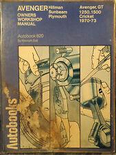 Autobooks Workshop Manual Hillman Avenger Sunbeam Plymouth 1970 to 1973.
