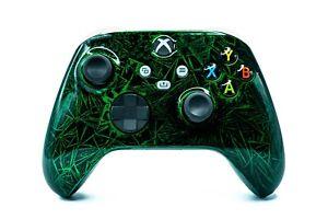 MICROSOFT Xbox Series S + X Wireless Controller Shock - Custom Grün Schwarz Weiß