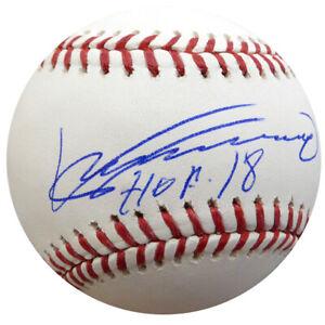 """VLADIMIR GUERRERO AUTOGRAPHED SIGNED MLB BASEBALL EXPOS """"HOF 18"""" BECKETT 135923"""