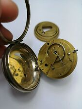 English Silver Pocket Watch For Repair and Restoration - Bennett, London (M14)