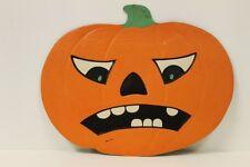 Vintage Halloween Pumpkin Jol Embossed Die Cut Usa Frown