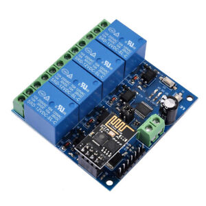 Relaismodul Set 12V 4-Kanal inkl. ESP-01   Wifi / WLAN   ESP8266 4-Channel Relay