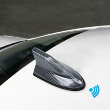 Car Carbon Fiber Shark Fin Roof Antenna Radio AM/FM Signal Aerial Accessories