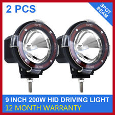 "2 PCS 9"" 200W HID XENON DRIVING LIGHTS SPOTLIGHTS 12V OFFROAD SPOT LIGHT 4WD"