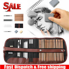 Sketch Drawing Pencils Set Art Supplies Artist Sketching Kit Canvas Roll Up Bag
