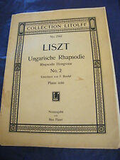 Partition Rhapsodie Hongroise N°2 Piano Solo Max Pauer Litolff Music Sheet