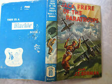 vintage book  JACK FRERE OF THE PARATROOPS hcdj 1943 fr by  M.B. CRITCHLOW