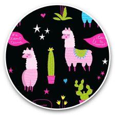 2 x Vinyl Stickers 30cm - Funny Llama Alpaca Cactus Stars  #45103